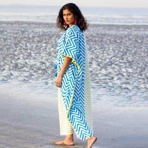 Moda Yeşil Ve Beyaz Çizgili Kemer Elbise Bikini Bluz Orta Uzunlukta Plaj Güneş Koruma Giyim Wrap Kadınlar Etek Polyester Kadın Swimwea