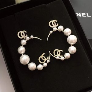 2021 new pearl earring temperament of celebrity socialite temperament new tide French retro style earring