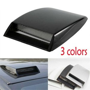 3 color car styling Universal Decorative Air Flow Intake Scoop Turbo Bonnet Vent Cover Hood Silver white black car styling