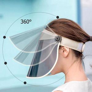 50+ Hat UPF Women Hat Summer Sun Protection Outdoor Cap Adjustable 360 Degrees Rotatable Face Maks Cap Anti-8