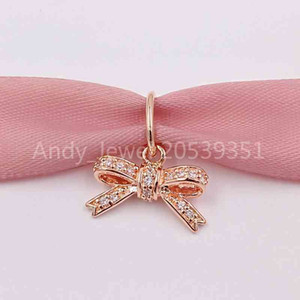Authentic 925 Sterling Silver Beads Galaxy Charm With Clear Cz Fit European Pandora Style Jewelry Bracelet 781390CZ Rose Gold Plated
