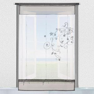 Blinds 1 St Curtains Window Tule Voile Curtain Beautiful Polyester Transparent Embedded Pastoral Home Decor