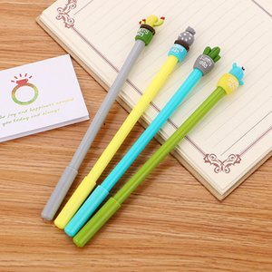 Cartoon cactus gel pen 0.5mm black Ink Office School signature exam Writing Supplies Stationery 0306