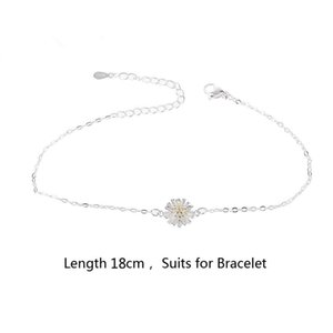 Charm Bracelets Silver Plated Daisies Flower Anklet Female Foot Chain Fashion Jewelry 193E