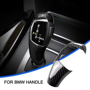 1PCS Real Carbon Fiber Left Right rudder Car Gear Shift Knob Cover Trim For BMW F20 F30 F31 F34 X5 F15 X6