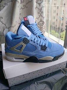 4 SE University Blue Hombres Zapatos deportivos para mujer de alta calidad 4S Sashiko Océano de profundidad BasketBallshoes 13 Rojo Flint CW0898-400 con caja CT8527-400