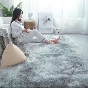 Carpets Living Room Carpet Bedroom Bedside Mat Simple Modern Gray Household Floor Rug Soft Skin-friendly