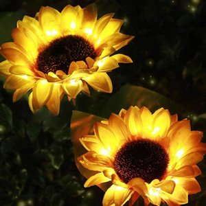 Top Selling Solar Power Sunflower Led Light Outdoor Garden Yard Lawn Landscape Lamp Decor Support Wholesale And Drop Mats & Pads