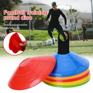 50pcs / lot Outdoor Sport Sport Football Fansings Disc Conos Track Space Marker Inline Pattinaggio Allenamento a velocità trasversale
