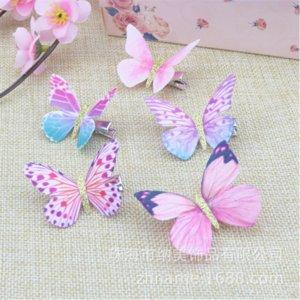 haste pano simulação borboleta borries barrettes garota pato pato clipes de cabelo bill bate pano de pano simulação borboleta fada menina pato clipe