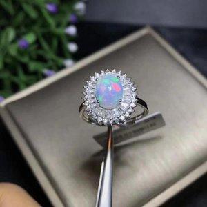 Anelli di cluster Negozio Prodotti Natural Opal Donna Cambia colore antincendio Mysterious 925 Silver.Luxury Style