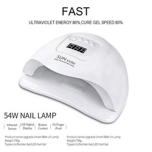 high quality Nail Dryer Gel Polish Curing Lamp sun x5 plus 54W UV LED 4 kind of time setting Two-color optional fast delivery