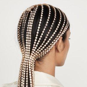 Rhinestone Tassel Headband Full Inlaid Crystal Female Hair Hoop