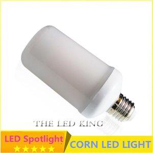Bulbs SonQin 2021 1pcs Dynamic Flame E27 E26 Lamp Effect 85-265V 2835SMD 9W 15W Bulb Flicker Light