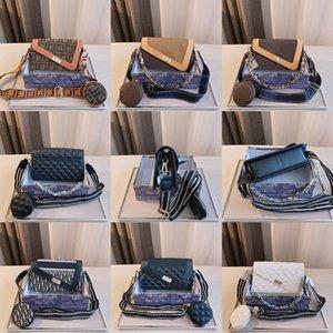 2021 Luxo Um ombro Slant Cross Bag Moda Feminina Moda Designer Chain Sacos Tamanho 23 * 8 * 15cm