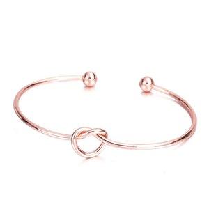 Adjustable Love Knot Bangle Bracelets for Women Girls Cuff Open Bangle Bracelets For Friends Best Gift Wholesale Cheap 52 J2