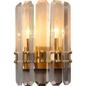 Wall Lamps Luxury Crystal Lights Gold Lamp LED Bulbs Light Fixtures For Bedroom Living Room Indoor Lighting Lustre AC 110V 220v