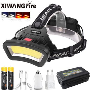 HeadLight SB Rechargeable Headlamp Wide Angle Head Light Torch Lantern Use 2*18650 For Hike Outdoor Headlamps