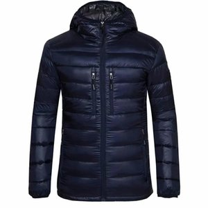Men Fashion Hooded Outwear Loose Fit Warm Parkas Goose Jacket Coat Men's Classic Outfits Thin Canada Bio-Down Jackets Parka Male