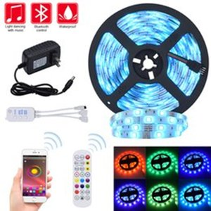 LED Strip Lights RGB Strips 32.8ft Tape Light 300 LEDs SMD5050 Waterproof Music Sync Color Changing Bluetooth Controller 24Key Remote Co