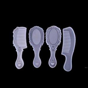 سيليكون مشط العفن الراتنج صب العفن سيليكون الايبوكسي الراتنج قوالب ل diy مرآة الشعر مشط الحرفية صنع HWF6177