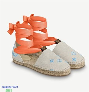 T120c 2021 Latest high quality sandals Hemp rope weaving design women slippers high-heels shoes flip flop neakers fashion casual