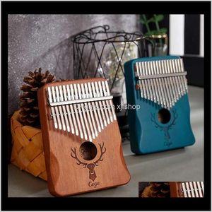 China Style Souvenir Kalimba Cega 17 Keys Wholesale Thumb Piano Goog Mood Mahogany Mbira Musical Instrument Easy To Learn With Accesso Lij2C