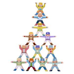 Hercules Balance Building DIY Stacking Jade Wooden Blocks Kids Educational Toys for Children Q1110