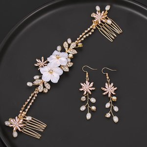 Wedding Crystal Peals Hair Combs Bridal Clips Accessories Jewelry Handmade Women Head Ornaments Headpieces For Bride & Barrettes