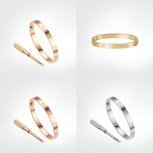 Aşk Vida Bilezik 5.0 Tasarımcı Klasik Erkek Altın Bilezik Lüks Takı Kadın Titanyum Çelik Altın Kaplama Asla Kayast Alerjik Değil -3 Renk