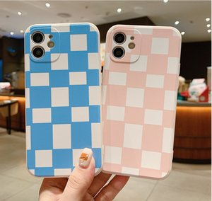 Checkerboard phone cases for iphone13 pro max 12 min 11 X XR XS 6 6s 7 8 PLUS SE case cover