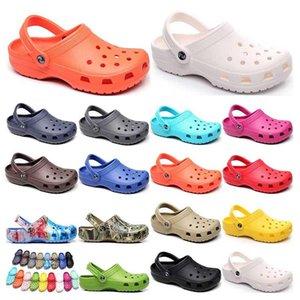 196 hotsale 패션 샌들 캐주얼 해변 방수 신발 남성 클래식 간호 절단 병원 여성 슬리퍼 작업 의료 상위 2021