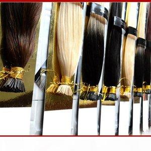 """Xcsunny i-tip capelli estensioni 18 """"20"""" cheratin punta remy human hair estensioni di capelli 100g pk 1g s ti ribalta le estensioni dei capelli lisci di lisci"""