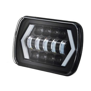 Car Headlights 1 Pcs 5x7 7x6 400W 7 Inch H4 H13 Led Headlight With Angel Eyes Square High Low Beam Waterproof For Offroad Vehicle Trucks ATV