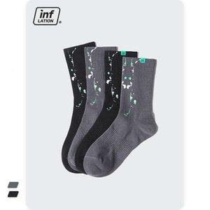 accessories   fashion irregular ink splashing graffiti luminous middle tube socks and