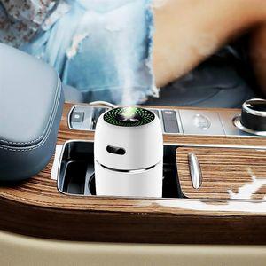 200ml USB 미니 공기 가습기 자동차 아로마 에센셜 오일 디퓨저 홈 안개 안개 메이커 LED 야간 램프 액세서리 청정제