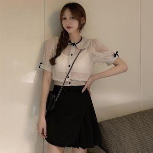 Skirts Women's Short Skirt Summer High-waist All-match Design Sense Slim Black Bust A-line