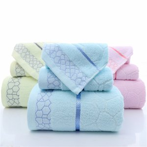 Classic Solid Color Towel Rectangular Jacquard Plain Bath Towels Embroidered Stripe Bathroom Supplies Couple Hotel Products