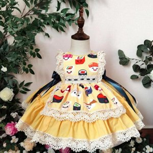 Miayii Baby Clothing Summer Spanish Lolita Princess Ball Gowns Lace Print Boutique Turkey Style Party Eid Dresses For Girls A66 Girl's