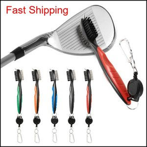 Other Products Mini Dual Golf Club Brush For Tools Nylon Wire Bristles Cleaner With Keychain Portable Brushes Zip Line Multifunction K 9Cotr