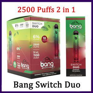 Bang Switch Duo Disposable Vapes Pen Device Pod E Cigarette Kit 2500 Puffs 1100mAh 7ml Pods Vs Rare mega 0268243-3