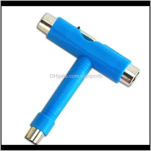 Accessories Professional All In One Ttype Skate Screwdriver Socket Multi Functional Skateboard Adjusting T Tool Szkis Drog1