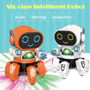 Dancing Electric Six-claw Small 6 Robot with Lights Music Robot Childrens Educational Toys Christmas Birthday Gift