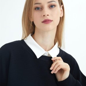 Bow Ties Women Shirt Detachable Collar Female Business False Ladies Clothes Decoration Removable Sweater Suits Fake