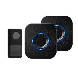 Doorbells Wireless Smart Doorbell Range Electric Ringer Transmit Bell Volume Adjustable 58 Ringtone Emergency Alarm