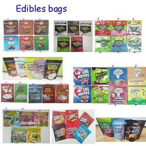Embalaje comestible Otoño Trate Brownie Bolss Chips Sourz Budhead Trips Ahoy Gummies Cannaburst Mylar Sour Bag
