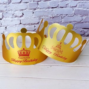 Banners Streamers Confetti Creative Net Red Birthdays Hat Baking Supplies Paper Children's Birthday Cake Crown Party Hats Christmas DHL