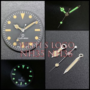 28.5mm Vintage Watch Dial Green Luminous For PROSPEX Skx007 NH35 NH36 Face Movement Repair Parts 200m Watchhands Replacement Tools & Kits