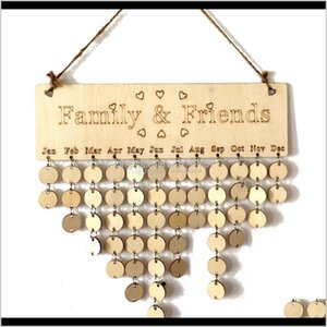 Supplies Office School Business & Industrial Drop Delivery 2021 Diy Wood Family And Friends Calendar Wall Hanging Reminder Board For Birthday