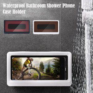 Bathroom Waterproof Mobile Phone Holder Shower Phones Case Sticky Wall Mount MobilePhone Box Seal Protection Touch Screen Cellphone Holders boxes